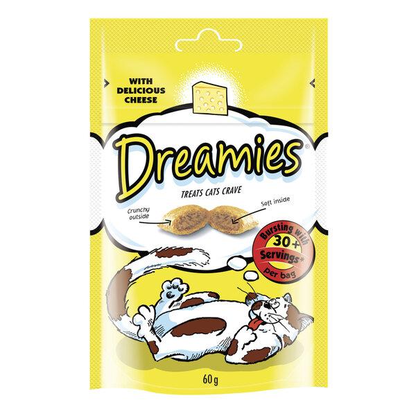 Gardums kaķiem ar sieru DREAMIES 60 g cena un informācija | Gardumi kaķiem | 220.lv