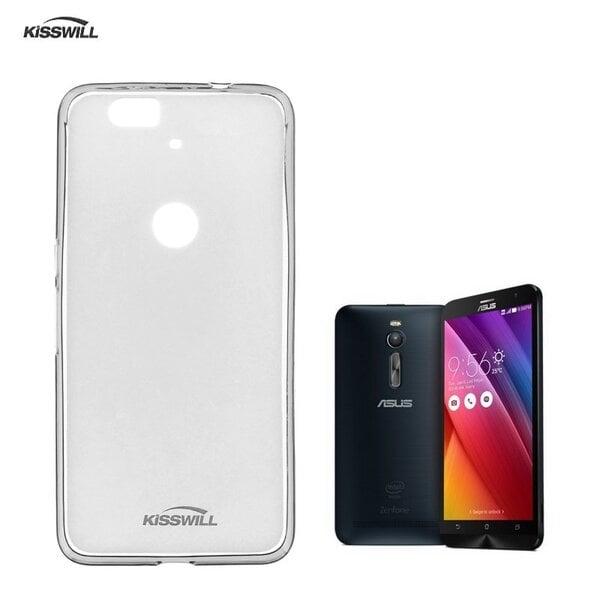 Kisswill Frosted Super Plāns 0.6mm Apvalks Asus Zenfone 2 ZE550ML / ZE551ML Caurspīdīgs (EU Blister) cena un informācija | Maciņi, somiņas | 220.lv