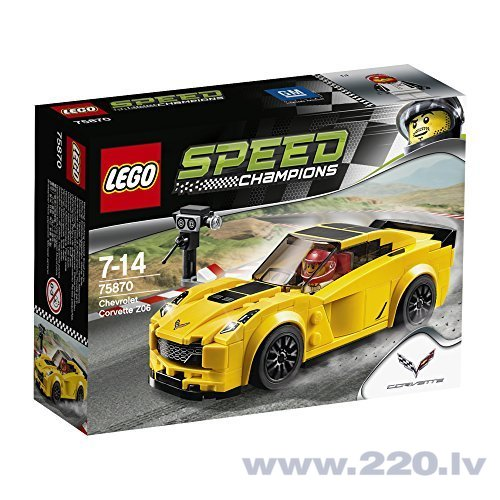 Конструктор Lego Speed Champions Chevrolet Corvette Z06 75870 цена и информация | LEGO | 220.lv