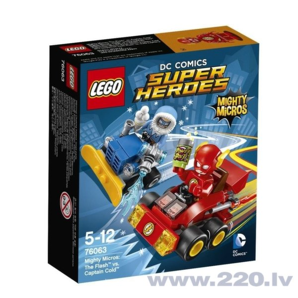 Конструктор Lego Super Heroes Mighty Micros: The Flash™ vs. Captain Cold 76063 цена и информация | LEGO | 220.lv