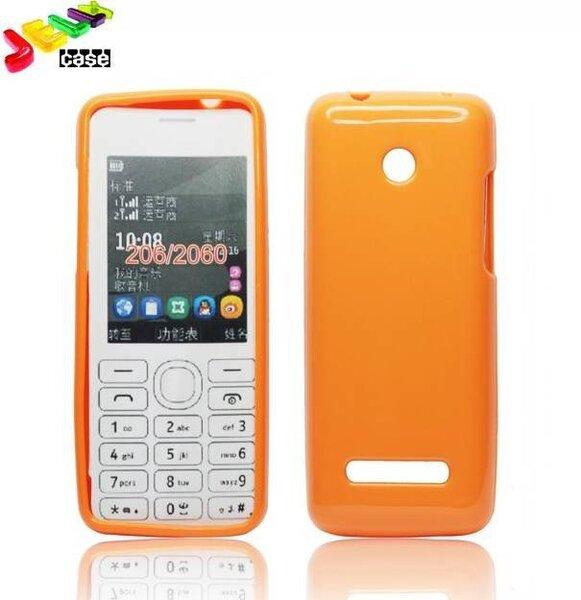 Forcell Jelly Back Case Силиконовый чехол для мобильного телефона Nokia 206, Оранжевый цена и информация | Maciņi, somiņas | 220.lv