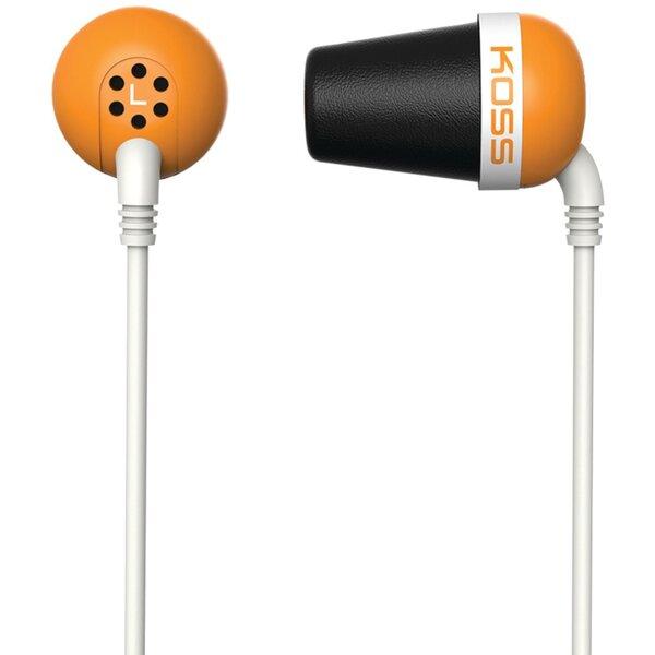Наушники KOSS The Plug, оранжевые цена и информация | Austiņas | 220.lv