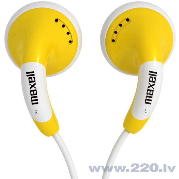 Наушники Maxell Budz Colour (желтые) цена и информация | Austiņas | 220.lv