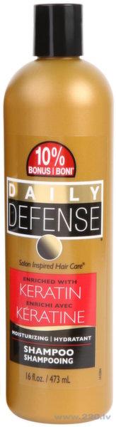 Šampūns ar keratīnu Daily Defense Keratin, 473 ml cena un informācija | Šampūni | 220.lv