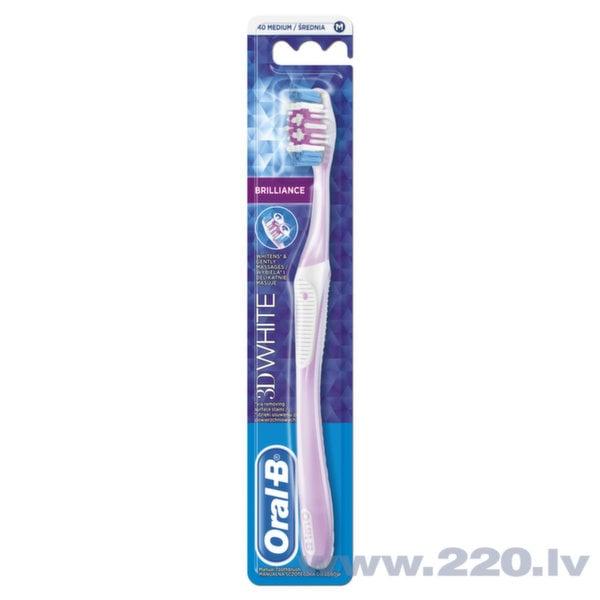 Zobu birste Oral-B 3D WhiteBril 40 Medium cena un informācija | Mutes dobuma higiēna | 220.lv