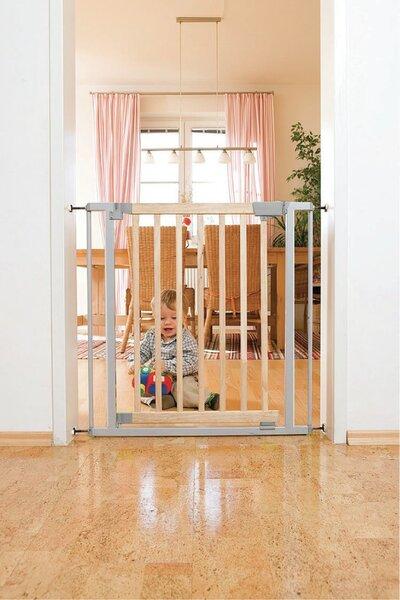 Drošības vārti LOLA GREY 73-82.5 cm cena un informācija | Bērna drošība | 220.lv