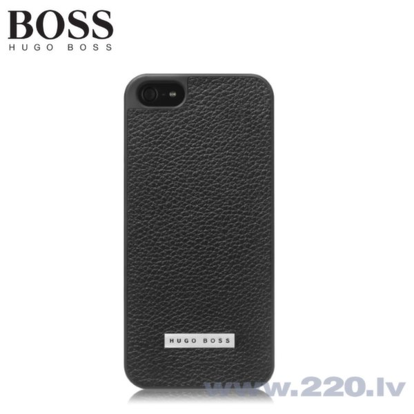 Hugo Boss Cosine V Leder Rubber-coated Кожаный Чехол-крышка Apple iPhone 5 5S 5SE Черный (EU Blister)  цена и информация | Maciņi, somiņas | 220.lv
