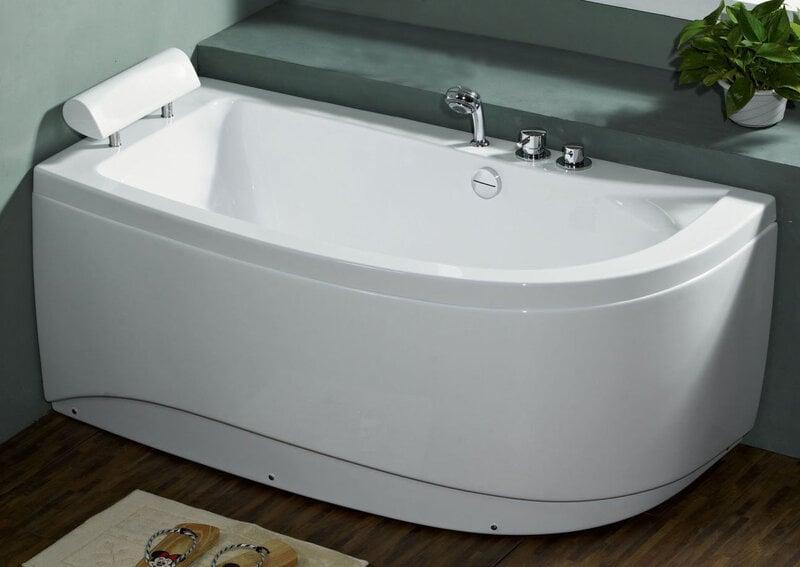 Akrila vanna B1680 kreisā,bez masāžas (vienkāršs) 170cm cena un informācija | Stūra vannas | 220.lv