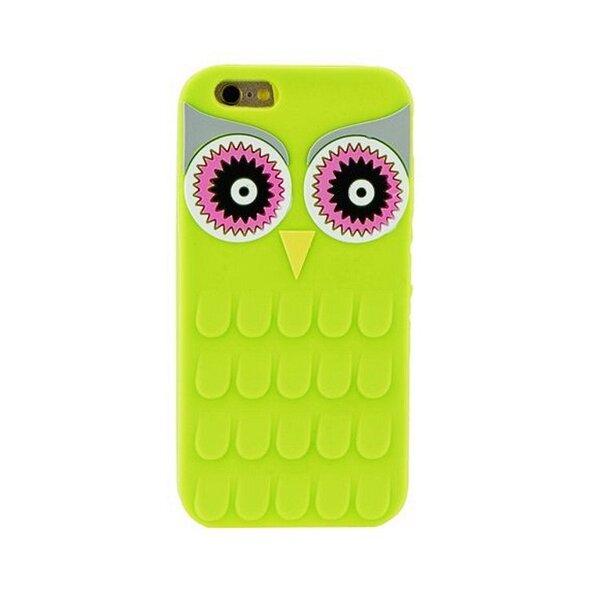 Zooky Silikona 3D telefona apvalks Samsung J510F Galaxy J5 Zaļa Pūce cena un informācija | Maciņi, somiņas | 220.lv