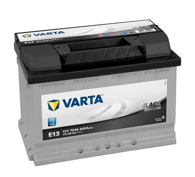 Аккумулятор VARTA ЧЕРНЫЙ 70Ah 640A E13 цена и информация | Akumulatori | 220.lv