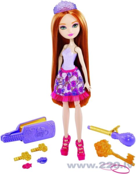 Lelle Ever After High Hairstyling Holly DNB75​ cena un informācija | Lelles | 220.lv