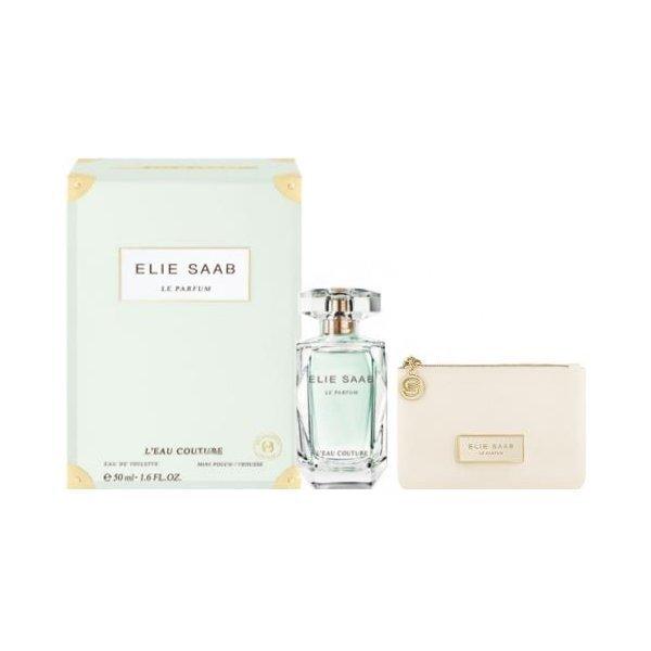 Komplekts Elie Saab Le Parfum L´Eau Couture: edt 50 ml + kosmētikas somiņa cena un informācija | Sieviešu smaržas | 220.lv