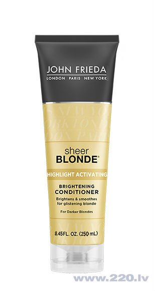 Kondicionieris blondīnēm John Frieda Sheer Blonde Highlight Activating For Darker Blondes 250 ml cena un informācija | Kondicionieri, balzāmi | 220.lv