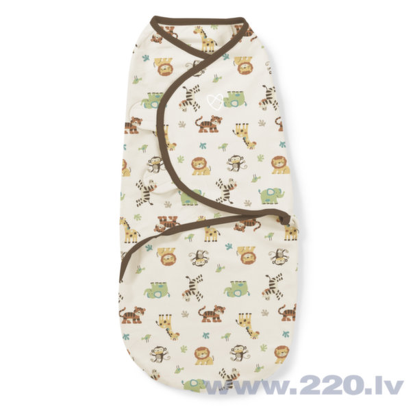 Пелёнка для пеленания Summer Infant SwaddleMe, Graphic Jungle, L размер цена и информация | Autiņbiksītes un aksesuāri | 220.lv