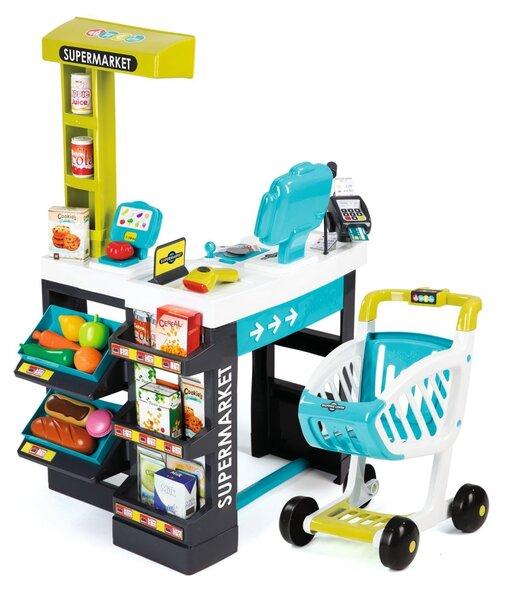 Rotaļu veikala kase ar iepirkumu ratiem Smoby, 7600350206 cena un informācija | Lomu spēles | 220.lv