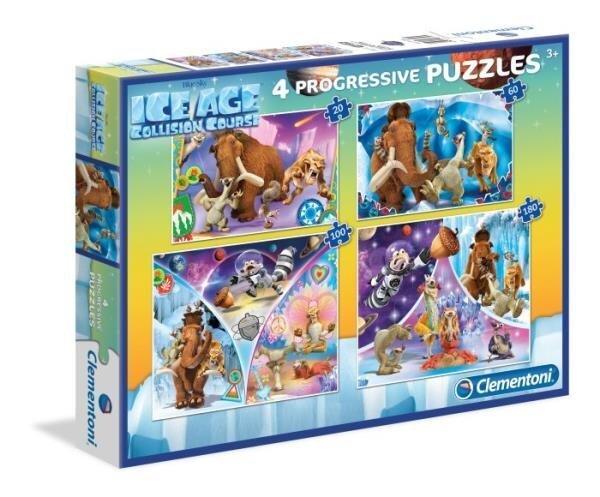 Puzle Clementoni Ledus Laikmets (Ice Age) 20+60+100+180 gab. cena un informācija | Puzles, 3D puzles | 220.lv