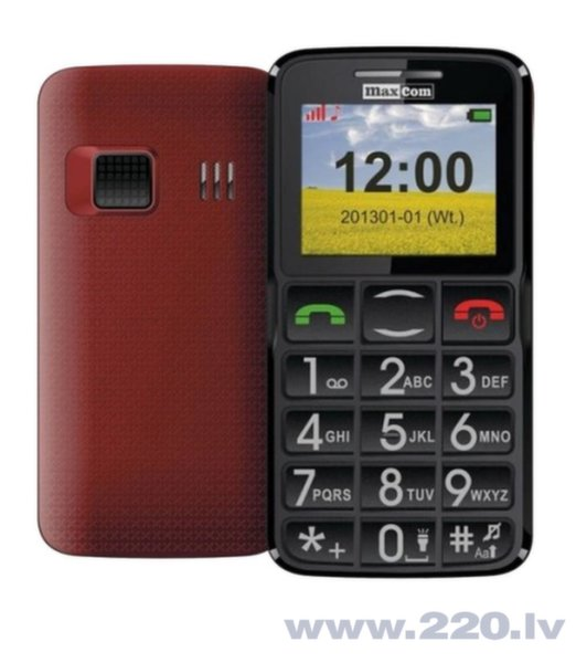 MAXCOM MM432BB Red ENG цена и информация | Mobilie telefoni | 220.lv