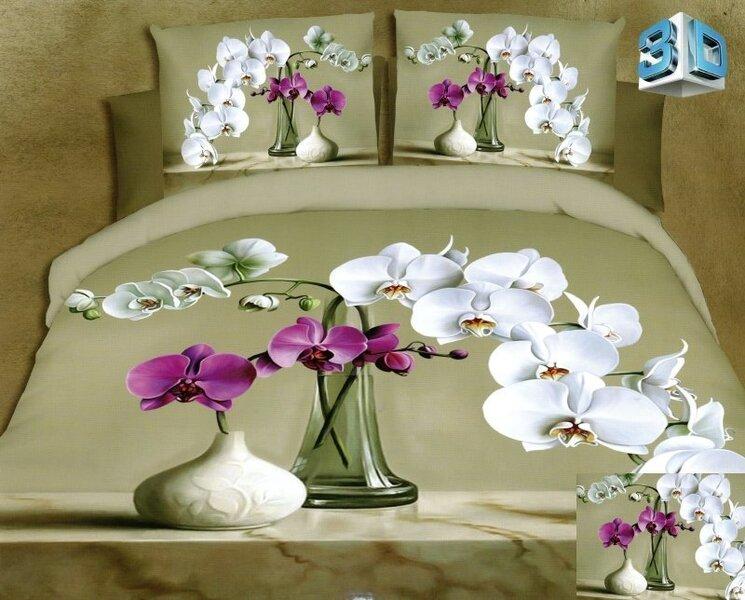 Комплект постельного белья 3D, 3 части (160x200 см) цена и информация | Gultas veļas komplekti | 220.lv