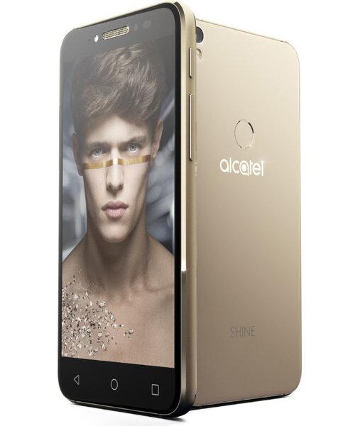 ALCATEL Shine Lite DUAL LTE Gold (Zeltains) cena un informācija | Mobilie telefoni | 220.lv