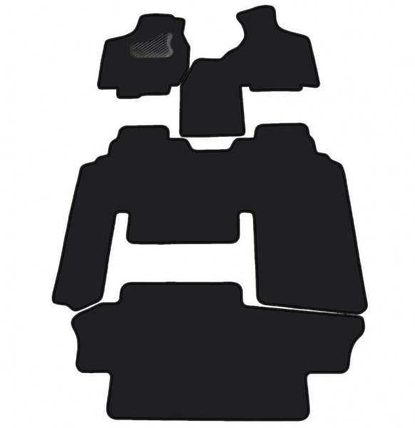 Comfort DODGE CARAVAN autom. gr. d. II rinda – savienots 2 vietīgs sēdeklis 96-00 MAX 5 , Velūra pārklājums cena un informācija | Tekstila paklājiņi pēc auto modeļiem | 220.lv