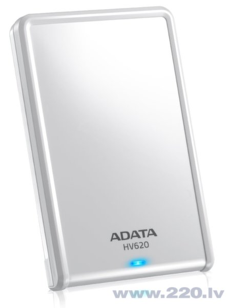 A-data HV620 1TB Slim White цена и информация | HDD - ārējie | 220.lv