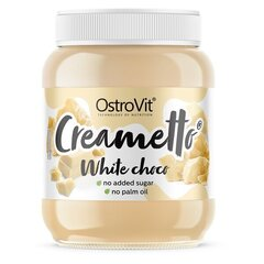 Baltās šokolādes krēms bez cukura OstroVit Creametto White Choco 350 g cena un informācija | Funkcionālā pārtika | 220.lv