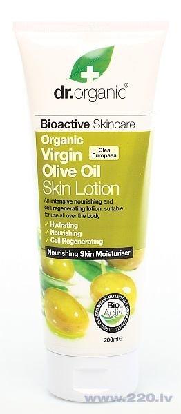 Ķermeņa losjons Dr. Organic Virgin Olive oil 200 ml cena un informācija | Krēmi un losjoni | 220.lv