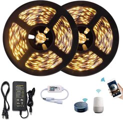 SMART LED lentes 10 m komplekts ar WIFI vadību (silti balta) cena un informācija   LED lentes   220.lv