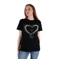 Sieviešu T krekls, melns cena un informācija | T-krekli sievietēm | 220.lv