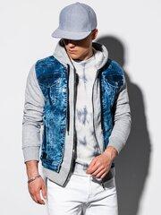 Vīriešu džinsa jaka C322, pelēka cena un informācija | Vīriešu žaketes | 220.lv