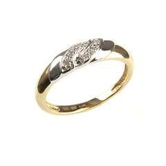 Золотое кольцо с бриллиантами DIA, 17 мм цена и информация | Кольца | 220.lv