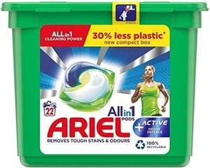 Ariel All in 1 Active Defence veļas mazgāšanas kapsulas, 22 gab cena un informācija | Ariel All in 1 Active Defence veļas mazgāšanas kapsulas, 22 gab | 220.lv