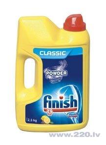 Pulveris trauku mazgājamai mašīnai FINISH Powder Lemon 2,5kg cena un informācija | Trauku mazgāšanas lidzekļi | 220.lv