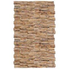 vidaXL sienas apdares paneļi, 20 gab., 2 m², 3D, masīvs tīkkoks cena un informācija | Sienas flīzes | 220.lv