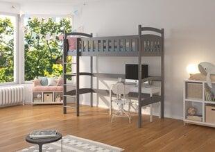 Divstāvu gulta Adrk Furniture Miago 90x200 cm, pelēka cena un informācija | Bērnu gultas | 220.lv