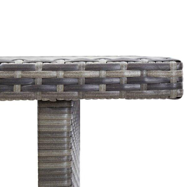 vidaXL dārza galds, antracītpelēks, 110x60x67 cm, PE rotangpalma lētāk