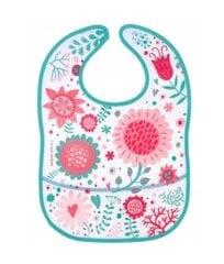 Ūdensnecaurlaidīgs priekšautiņš ar kabatu Canpol Babies Wild Nature Pink, 9/234_pin cena un informācija | Ūdensnecaurlaidīgs priekšautiņš ar kabatu Canpol Babies Wild Nature Pink, 9/234_pin | 220.lv