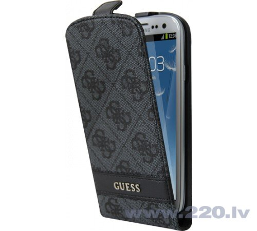 GUESS GUFLS34GG Exclusive Four G Style Flip чехол для телефона Samsung i9300 Galaxy S3, Grey (Серый) цена и информация | Maciņi, somiņas | 220.lv