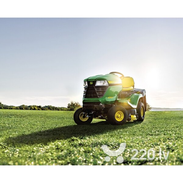 Mauriņa traktors ar hidrostatisko pārnesumkārbu un zāles savācēju JOHN DEERE X350R cena