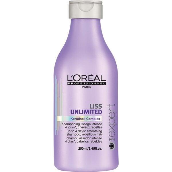 Šampūns nepaklausīgiem matiem L'Oreal Professionnel Paris Série Expert Liss Unlimited 250 ml cena un informācija | Šampūni | 220.lv