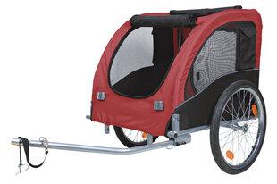 Trixie velosipēda piekabe L 75x86x80 (145) cm, melna/sarkana цена и информация | Trixie velosipēda piekabe L 75x86x80 (145) cm, melna/sarkana | 220.lv