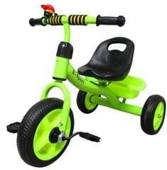 Трехколесный велосипед с педалями и корзиной, зеленый цена и информация | Трехколесный велосипед с педалями и корзиной, зеленый | 220.lv