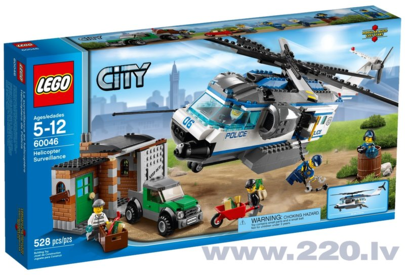 Конструктор Lego Helicopter Surveillance V29 60046 City цена и информация | LEGO | 220.lv