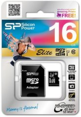 Atmiņas karte Silicon Power 16GB microSDHC 10 klase ar SD adapteri