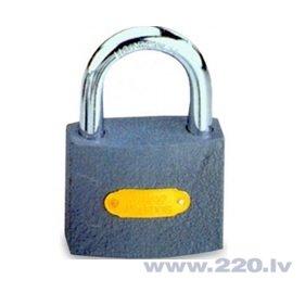 Slēdzene piekarināmā, pelēka 50mm cena un informācija | Slēdzenes piekarināmās | 220.lv