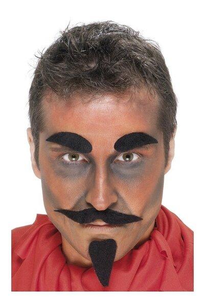 Velna bārda un ūsas cena un informācija | Karnevāla kostīmi, maskas un parūkas | 220.lv