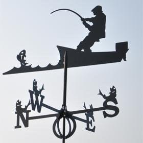 Vēja rādītājs - Zvejnieks cena un informācija | Dārza dekori | 220.lv