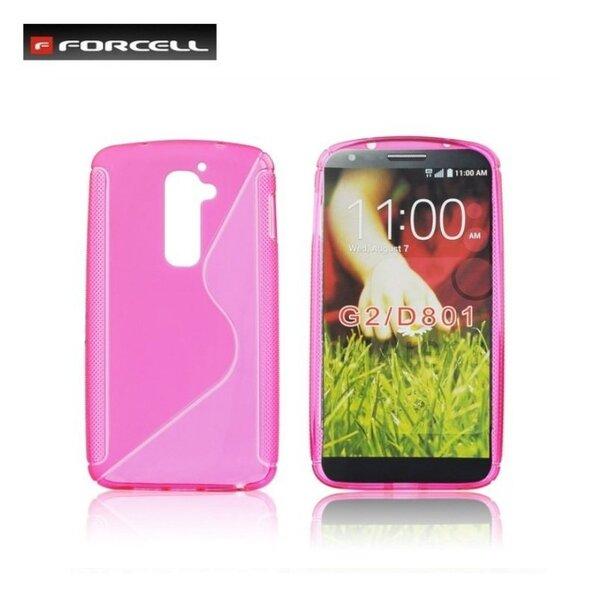 Forcell Back Case S-Line gumijots telefona apvalks priekš LG D802 Optimus G2, Rozā cena un informācija | Maciņi, somiņas | 220.lv