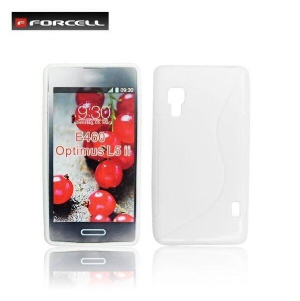 Forcell Back Case S-Line gumijots telefona apvalks priekš LG E460 Optimus L5 2, Balts cena un informācija | Maciņi, somiņas | 220.lv