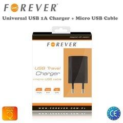 Сетевое зарядное устройство Forever + microUSB кабель 1.1A  цена и информация | Зарядные устройства и адаптеры | 220.lv